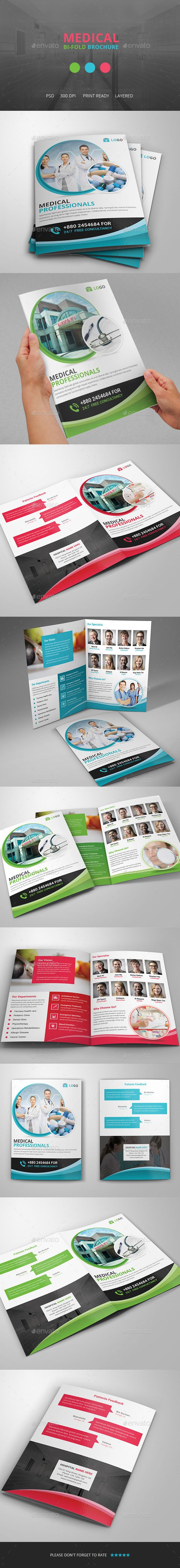 Medical Bi fold Brochure Template  —  PSD Template • Download ➝…