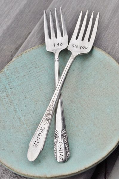 Vintage Wedding Cake Forks | jessicandesigns