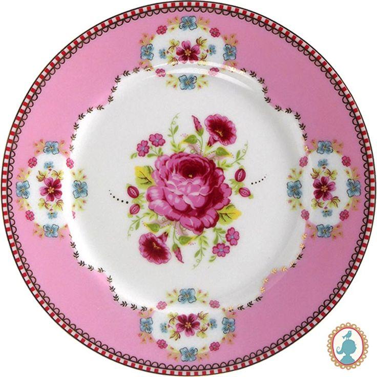 Prato em porcelana Pip Studio com estampa Floral. www.casadaalice.com.br