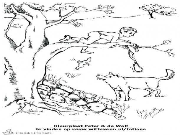 Peter And The Wolf Coloring Pages Free Download Peter And