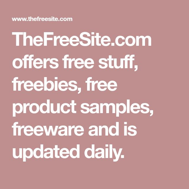 TheFreeSite.com offers free stuff, freebies, free product samples, freeware and is updated daily.