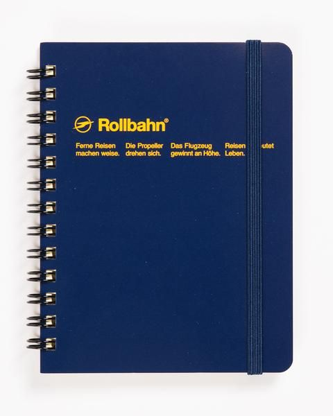 Rollbahn notebooks are an absolute classic for lovers of Japanese stationary and German names. Made by the sought-after long-running office goods company, they mix simplicity and distinctive design with ease. Bold colors, creamy paper, simple form and thoughtful design details make these endearing notebooks covetable but without pretense or preciousness. We love the light dot grid, ink-friendly paper, elastic closure, and perforated pages for clean tear out. Fancy feeling without fuss. Now…