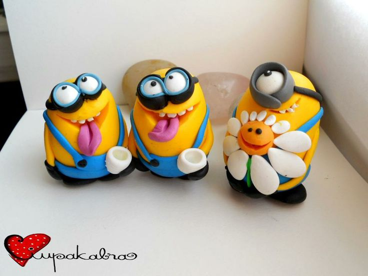silly minions.polymer clay.despicable me.ciupakabra work