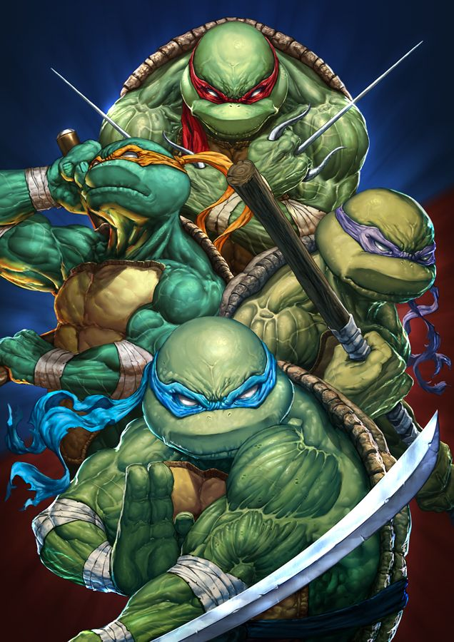 Ninja Turtles - Cover Test Created by Michele Frigo / Find this Artist on DeviantArt & Website & Society6 / More Arts from this artist on my Tumblr HERE