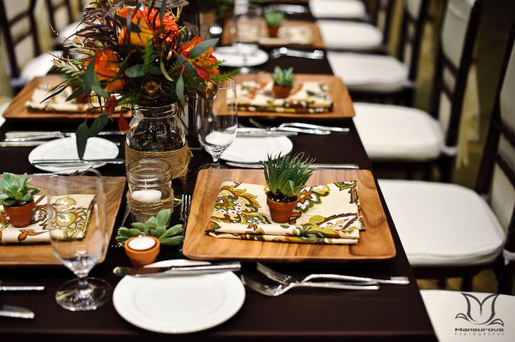 bamboo plates wedding - Google Search