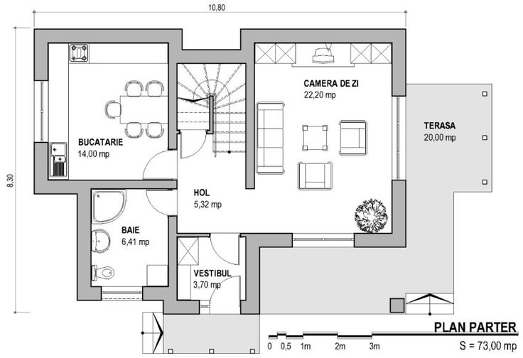 case mici cu trei dormitoare Small three bedroom house plans 4