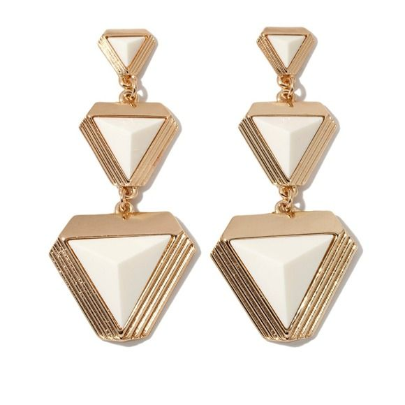 Cream and gold drop earrings By Melissa Gorga for HSN jewelry Jewelry Earrings