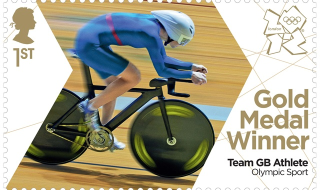 2012 Olympic Gold Medal Winner  stamp for Team GB Athlete