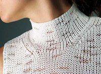 Цельновязанный воротник-стойка с декоративными дорожками | Вязание, Вышивка(на заказ).Интересное по вязанию
