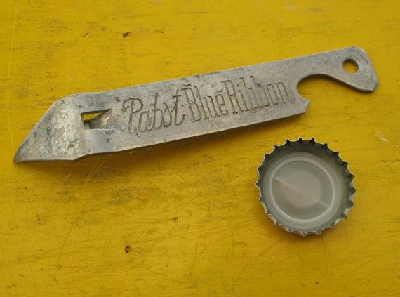 Pabst Blue Ribbon Beer Bottle Opener Collector Steel by GarageMonk.com, $16.00