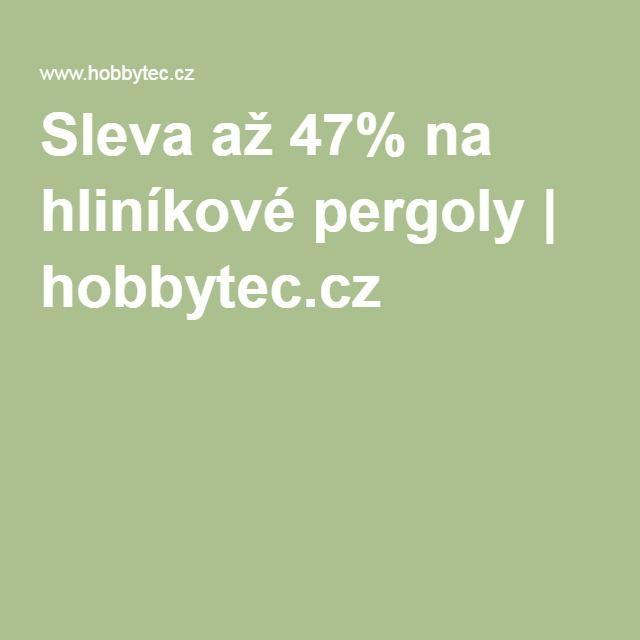 Sleva až 47% na hliníkové pergoly | hobbytec.cz