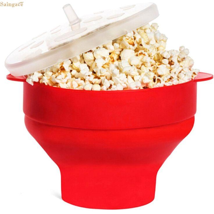 Saingace Popcorn Bucket Microwaveable Popcorn Maker Foldable Pop Corn  u70328