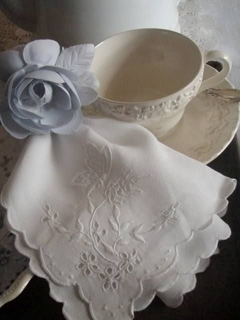 Embroidered Linens for Tea