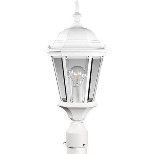 1 Light Post Mount by Progress Lighting. $117.18. Transitional Outdoor Post Lamp in Textured White with Clear Beveled glass from the Welbourne Collection by Progress Lighting. Dimensions: 21.25 H 9.50 W - P5482-30