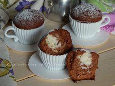 muffin alla nutella con cuore di cocco,ricetta per muffin golosi e facili da fare, ricetta golosa per la colazione o la merenda. ricetta con nutella e cocco