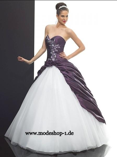 Event Mode Brautkleid Ballkleid Isabela Zweifarbig  www.modeshop-1.de