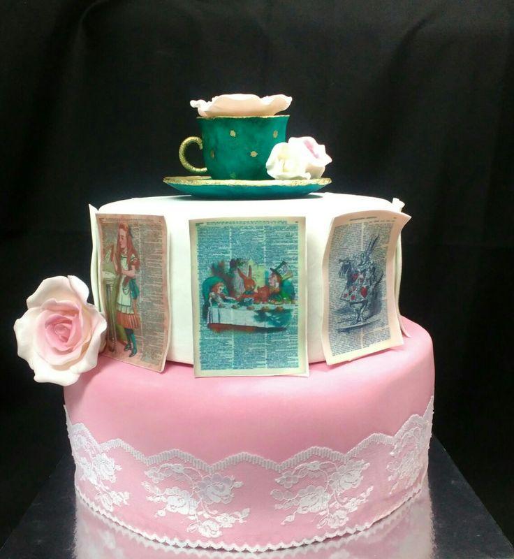 #Alice in Wonderland cake#Sweet Nina#