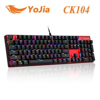 Original Motospeed CK104 Metal 104 Keys RGB Switch Gaming Wired Mechanical Keyboard LED Backlit Anti-Ghosting for Gamer Computer (32754626627)  SEE MORE  #SuperDeals