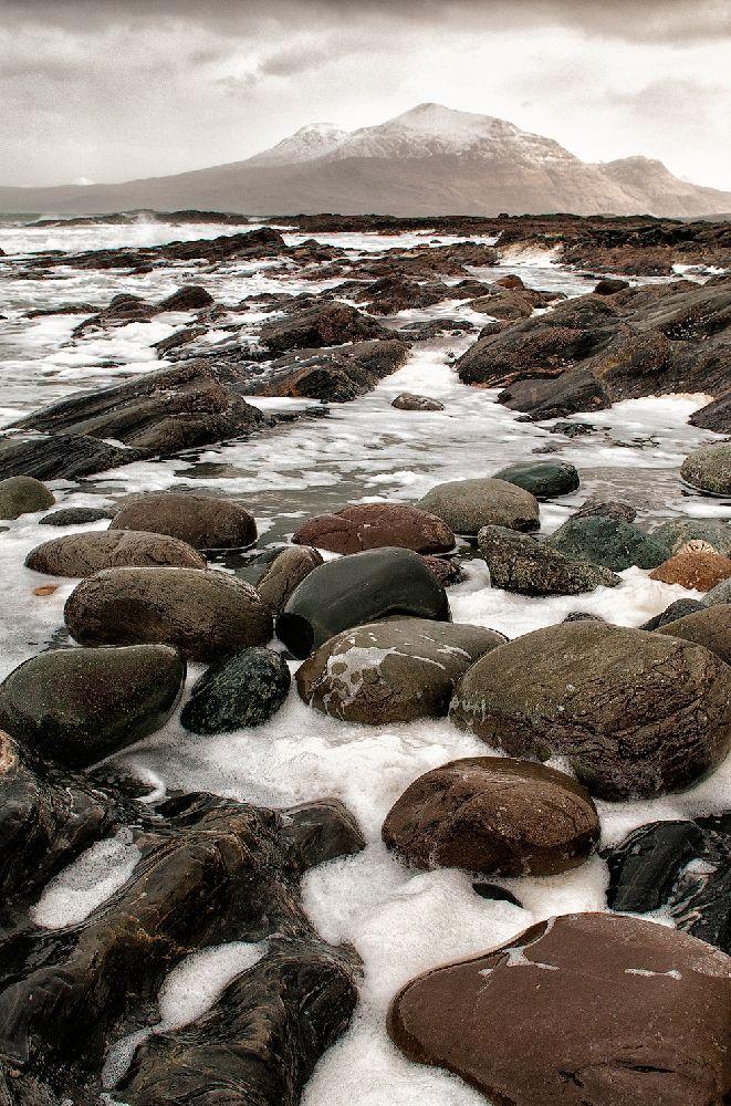 Rocks And Froth, Renvyle Peninsula by Aoife Herriott on ArtClickIreland.com Irish Landscape Photography