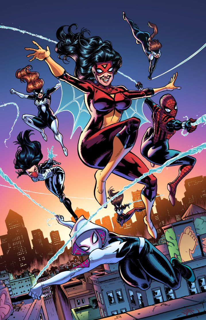 Spider-women by J-Skipper.deviantart.com on @DeviantArt