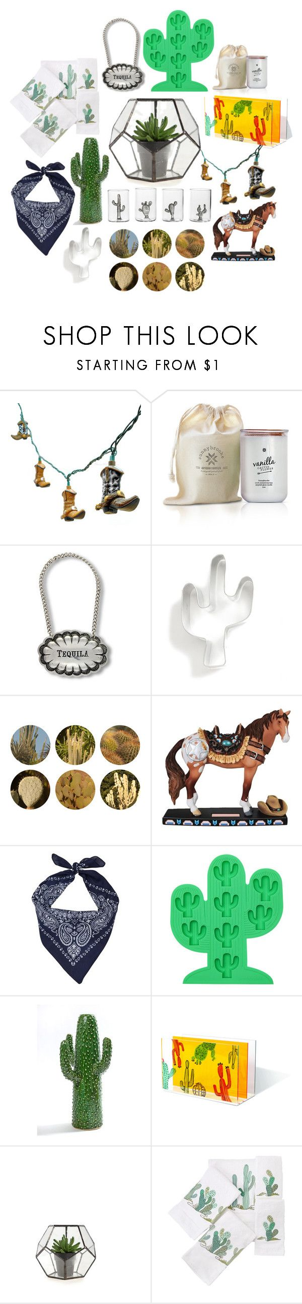 """Wild Westmas"" by brandnewjen ❤ liked on Polyvore featuring interior, interiors, interior design, home, home decor, interior decorating, Vagabond House, Ann Clark, Ella Doran and Westland Giftware"