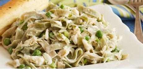 Take a look at this recipe (Weeknight Crab Alfredo)