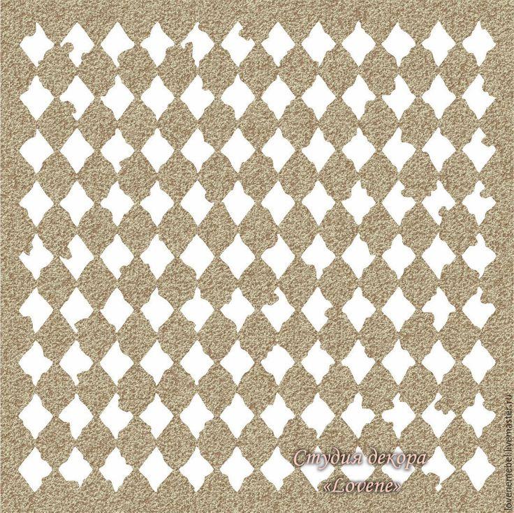 Купить Арт. 05 Трафарет для декора мебели и предметов интерьера. - белый, трафарет, трафареты для творчества
