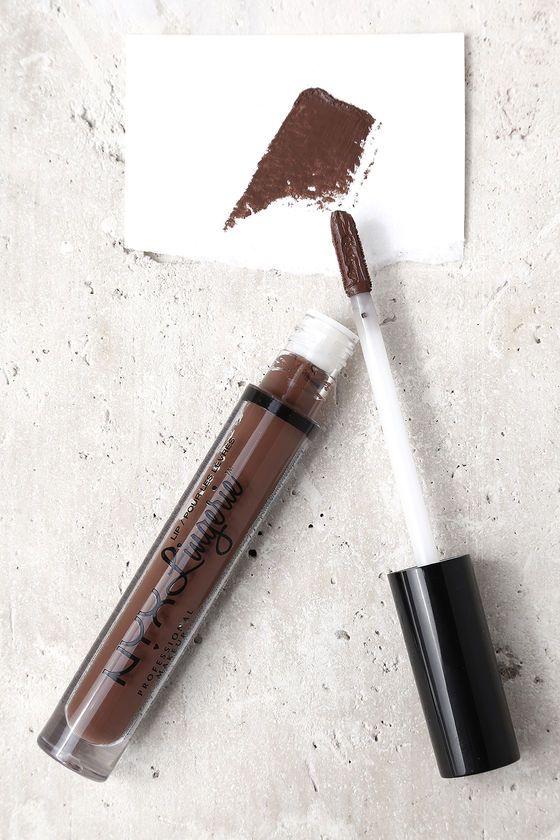 NYX Beauty Mark Brown Lip Lingerie Liquid Lipstick