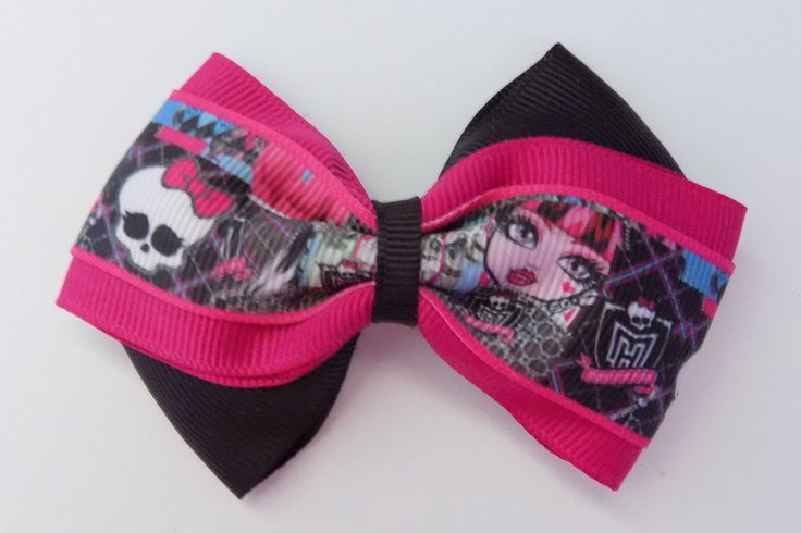 Monster High has arrived  on the scene. Character hair bow, Girls hair bow, Mattel Doll, Birthday gift, Party Favor by JettsHairBows on Etsy