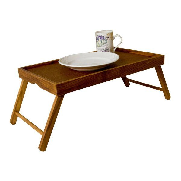 Make breakfast in bed easy with this rustic pine bed tray. Foldable design allows for easy storage. Perfect serving tray for bed, watching TV and much more.