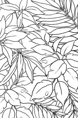 Examples of motif Free Sketch Graphic Design Pattern Jungle Tropical 2, Zentangle, Sketch Drawing