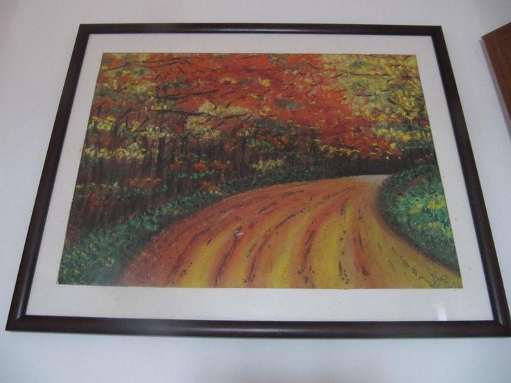 Podzimní cesta Soft pastel- Autumn path