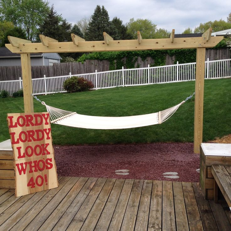 Permanent Two-post Hammock Stand Pergola. With The Help Of