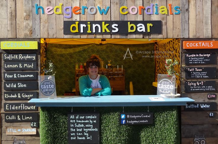 Hedgerow Cordials Drinks Bar made its debut appearance at this event and it looked great!