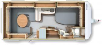 Wohnwagen Fendt Opal 560 SRF - Auflst. auf 1.800 kg - ID: HC1929529 #Fendt #Opal #560 SRF #Wohnwagen - Caravans - Wohnwagen & Reisemobile