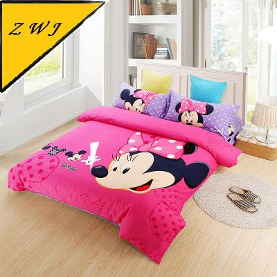 Mickey Mouse bedding sets 4pc cartoon twin queen size free shipping duvet cover/sheet/pillowcases#queen size mickey mouse bedding