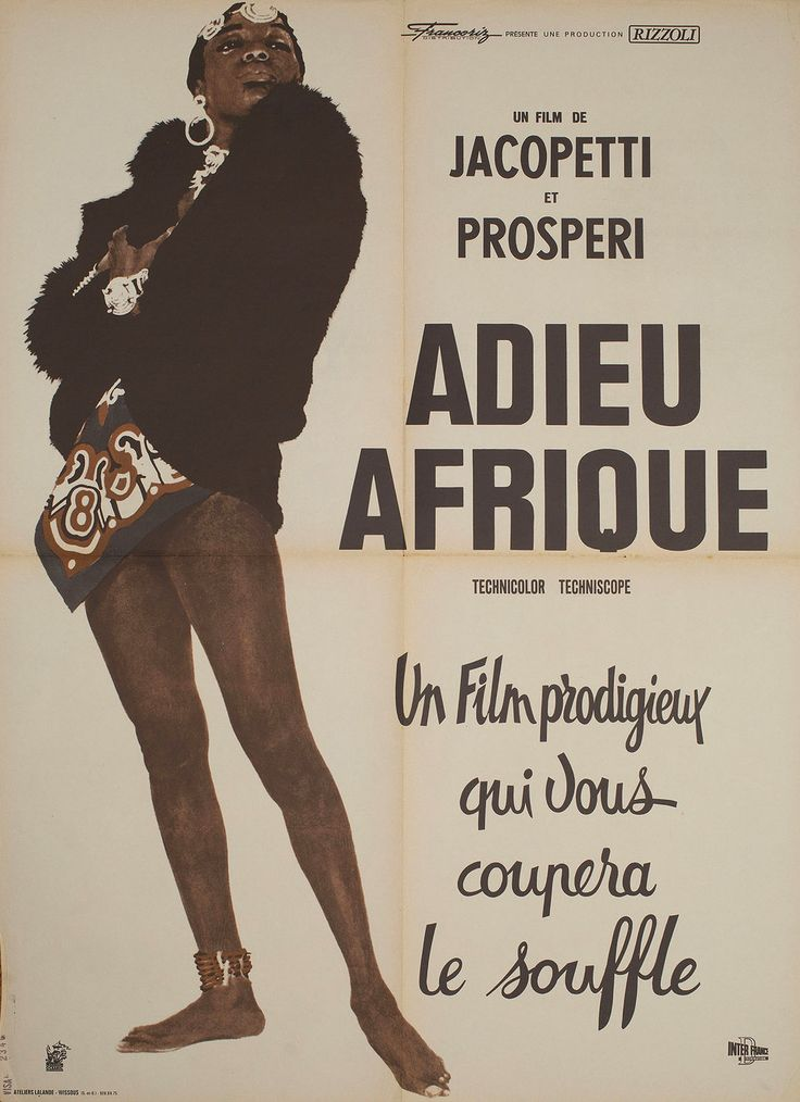 Africa Blood and Guts 1966 French Moyenne Poster