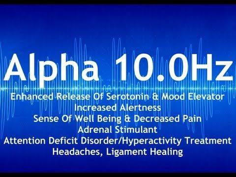 Binaural Beats - Alpha 10.0Hz Pure, Alpha Binaural Beat Session (Seroton...