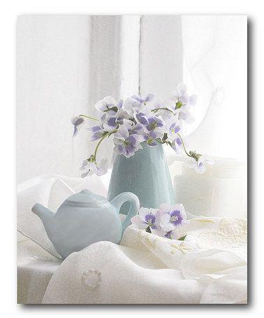 Loving this Violets in Tea Pot Canvas on #zulily! #zulilyfinds -$32.99