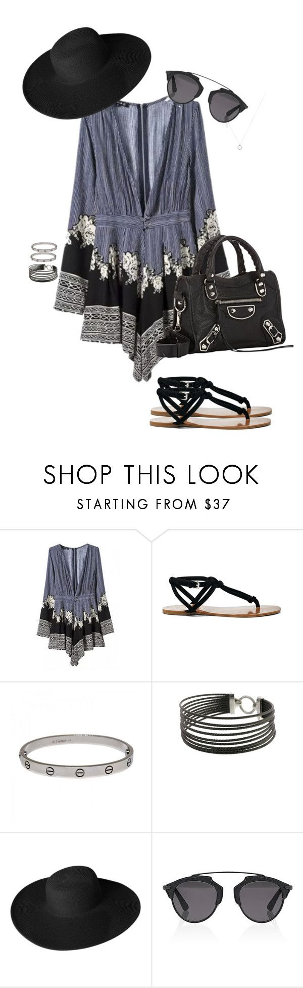 """""""Gemini"""" by ccoss on Polyvore featuring WithChic, Sole Society, Cartier, Charriol, Dorfman Pacific, Christian Dior, Balenciaga, fashionhoroscope and stylehoroscope"""