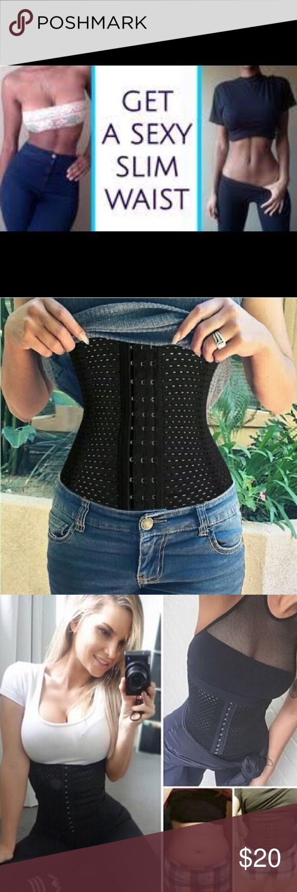 Waist Trainer ♡ Brand New ♡ Never used Waist Trainer ♡ Brand New ♡ Never used  *Pick The Size You wear In Shirts*  [Benefits]  • Helps Lose weight   • Helps Lose inches   • Drops pants sizes  • Contours midsection  • Comfortable  • Get rid of muffin top  • Reduce waistline  •3 rows of adjustable hooks to adjust to your size  • Stretchy and Flexible  • Can be worn on top or under clothing to give a instant weight loss look  • Start to see results without wearing it within a week adidas…