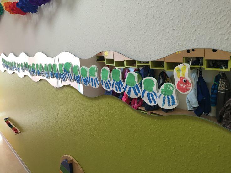 20 besten raupe nimmersatt bilder auf pinterest kita schmetterlinge und raupe nimmersatt - Raupe basteln kindergarten ...