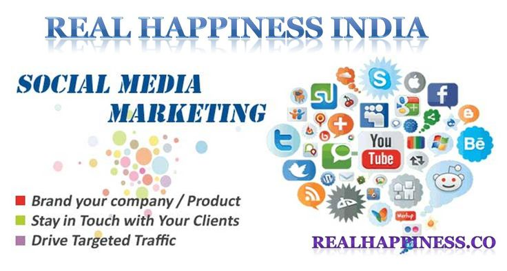 Social Media Marketing in Dehradun, India  Real Happiness India Private Limited is leading company in Rishikesh with the services of Social Media Marketing. We at Real Happiness India provides social media promotions on top 30 social networks like Facebook, Twitter, Google-Plus, Linkedin, YouTube, Blogger, Tumblr, Instagram, Flickr, StumbleUpon, Pinterest, VK, Ask.FM, Reddit and others.  http://realhappiness.co/