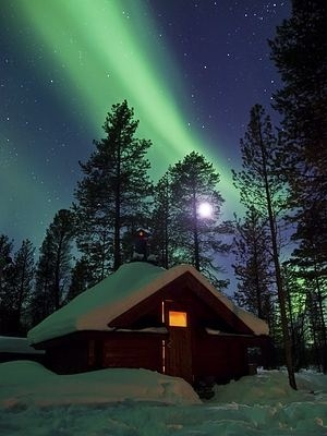 The aurora borealis over Finland <3