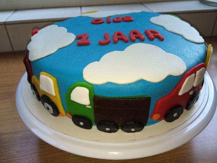 Tractor auto vrachtwagen taart