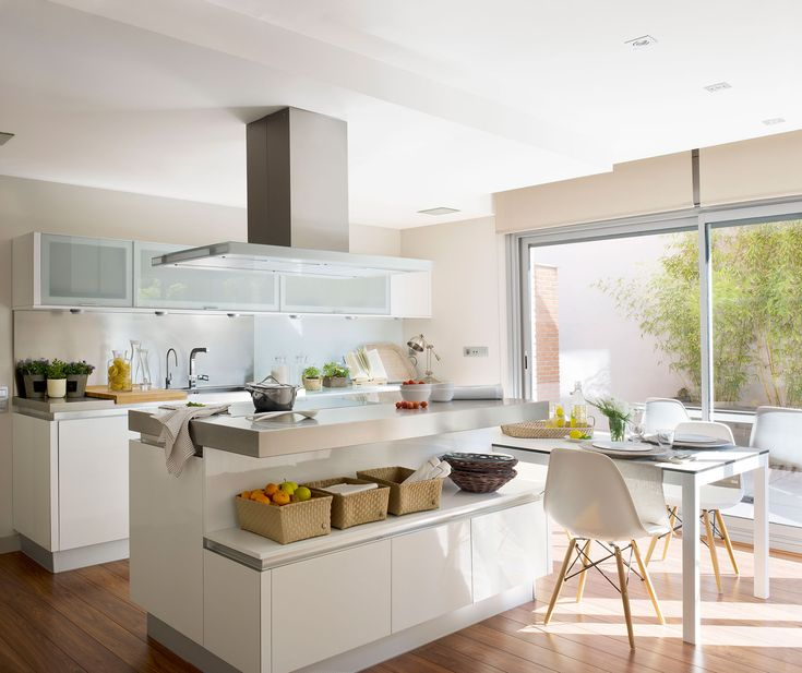 Muebles De Cocina Con Isla Central. Affordable Cocina Moderna With ...
