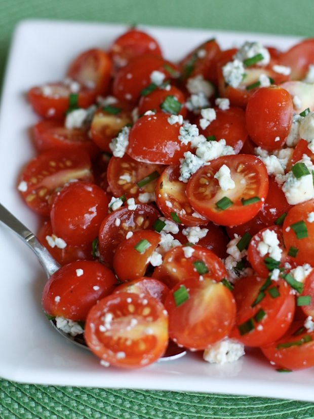 Cherry Tomato and Blue Cheese Salad