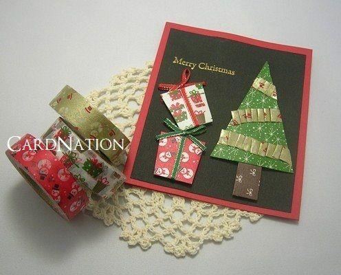 ツリーやプレゼントもマスキングテープで!