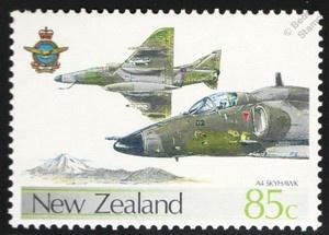 NZ RAF / RNZAF DOUGLAS A-4 SKYHAWK Aircraft Stamp