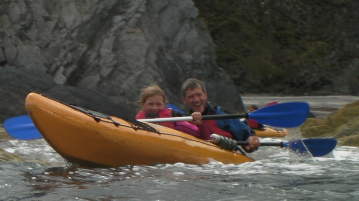 Sea kayaking tours on the Pembrokeshire Coast from Fishguard with Mayberry Kayaking start from £37 for under 16's and £57 for adults.  Call 01348 874699 or visit the website http://www.mayberrykayaking.co.uk/sea-kayak-trips-pembrokeshire/